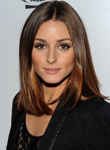 La modelo Olivia Palermo, con melena midi alisada