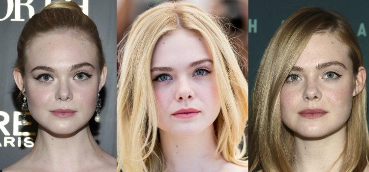 Para enmarcar la mirada Elle Fanning suele apostar por el delineado de ojos