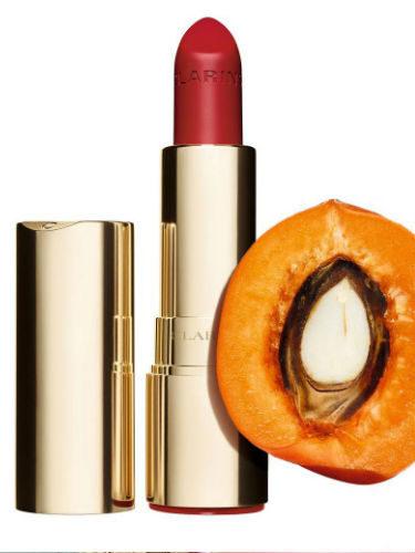 'Joli Rouge Velvet' de Clarins, enriquecido con aceite de albaricoque