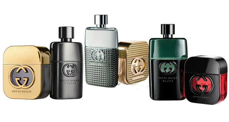 Anteriores ediciones de la línea de perfumes 'Gucci Guilty'