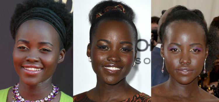 Con el maquillaje de ojos la actriz siempre apuesta por algo llamativo y original