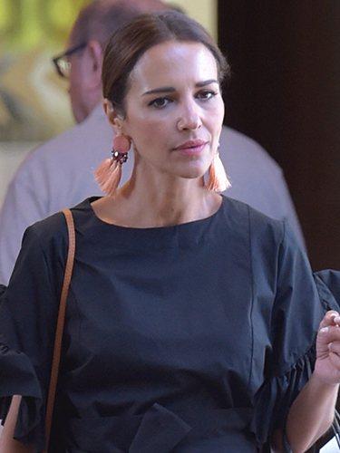 Paula Echevarría, con moño bajo