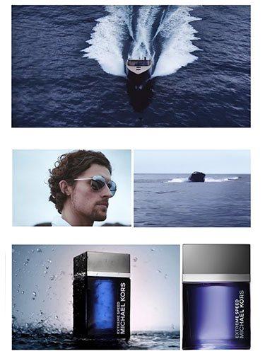 Imagen promocional de la nueva fragancia de Michael Kors, 'Extreme Speed'