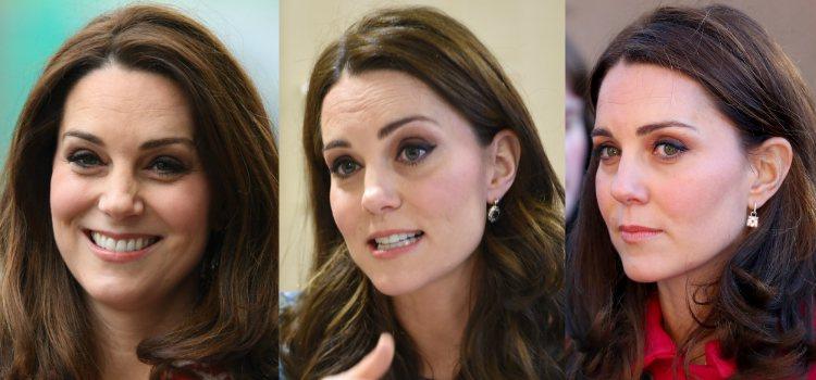 Para enmarcar el rostro Kate Middleton apuesta por unas cejas finas pero con forma