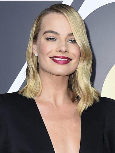 Margot Robbie, en los Globos de Oro de 2018