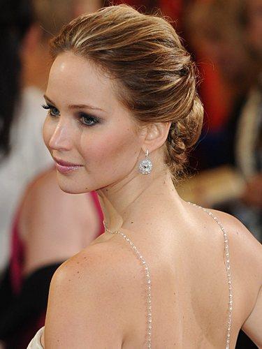 Jennifer Lawrence, con un recogido bajo