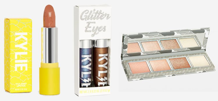 Labiales, sombras en glitter y una paleta de iluminadores en 'The Weather Collection', de Kylie Jenner
