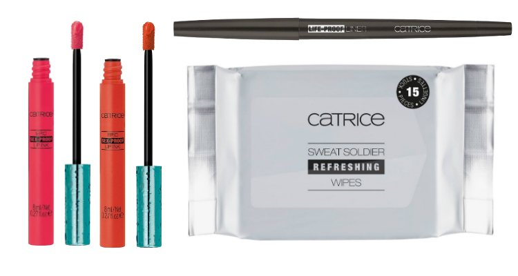 Los cosméticos para ojos y labios y las toallitas de la colección 'Active Warrior' de Catrice