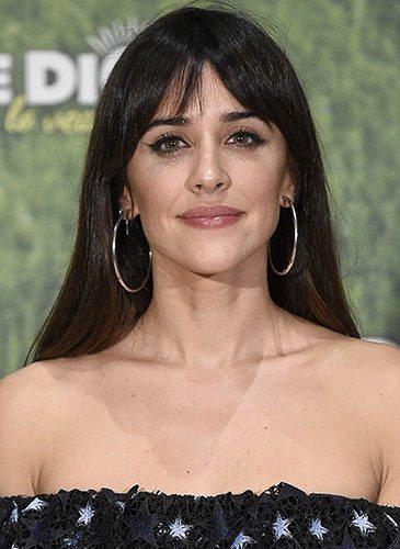 La actriz Macarena García, con flequillo