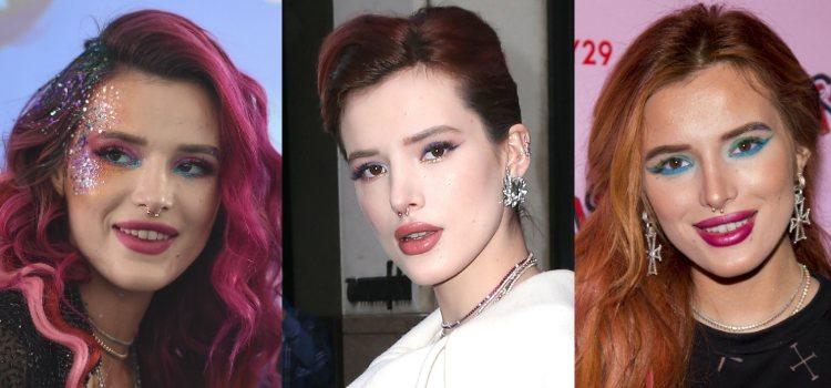 Un maquillaje de Bella Thorne no está completo si no está lleno de brillo