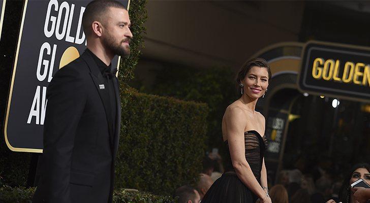 Justin Timberlake y Jessica Biel, en los Globos de Oro 2018