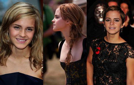 Emma Watson con peinados más trabajados ya de adolescente