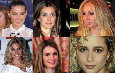 Algunas famosas antes (abajo) y después (arriba) de sus retoques