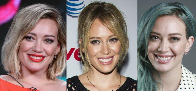 Sencillas y bien peinadas, así lleva las cejas Hilary Duff