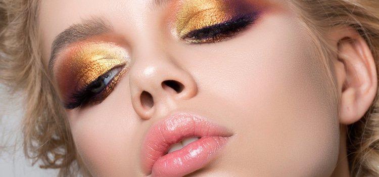 Las sombras doradas dan un toque de iluminación a tu piel