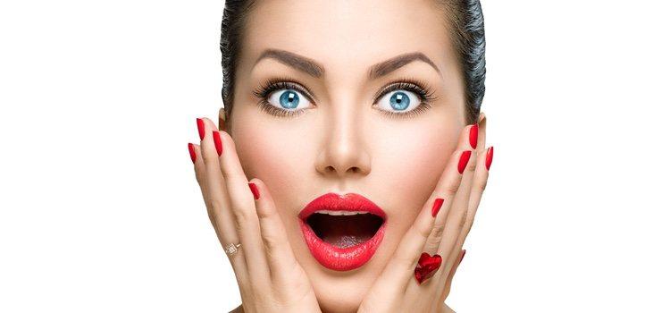El rostro con forma de diamante es necesario usar dos bases de colores diferentes