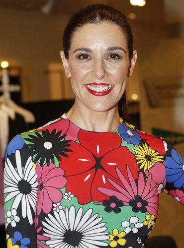 Raquel Sánchez Silva, en la presentación de 'Maestros de la costura' con coleta