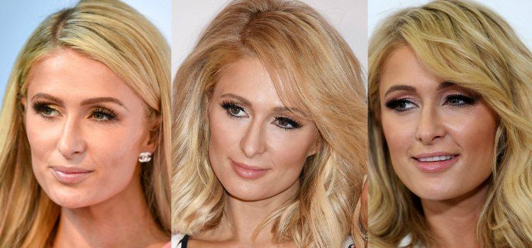 El smokey eye de Paris Hilton siempre de purpurina