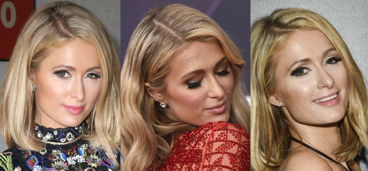 Las pestañas postizas son siempre imprescindibles en cualquier look de Paris Hilton