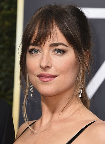 Dakota Johnson, durante los Globos de Oro de 2018