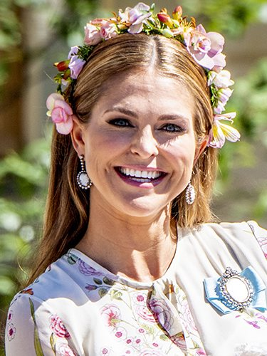 Magdalena de Suecia, en el bautizo de su hija Adrienne
