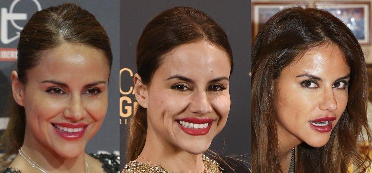 Los labios rojos son un imprescindible en el maquillaje de Mónica Hoyos