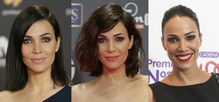 Para maquillar la mirada la actriz apuesta por ahumados de ojos sin brillo