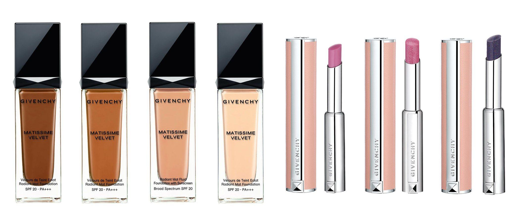 Nuevos tonos de base de maquillaje y labiales de Givenchy