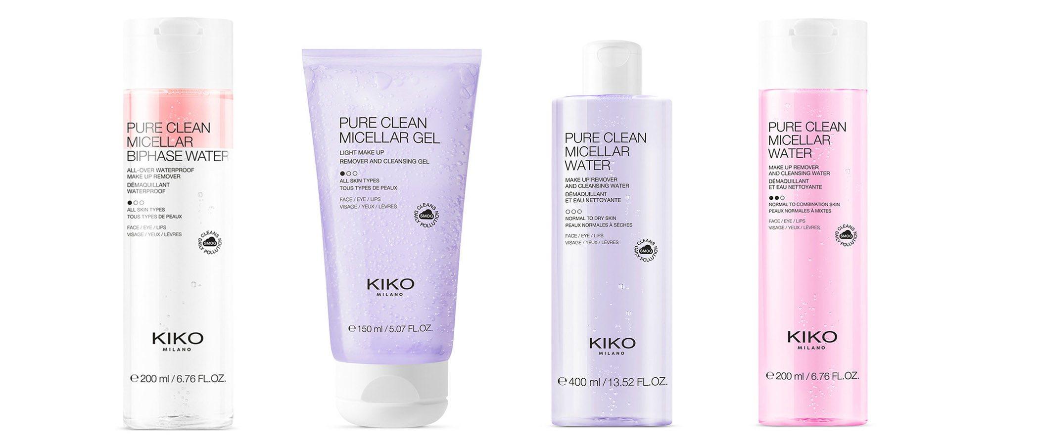 Línea completa de cuidado facial de Kiko Milano Cosmetics
