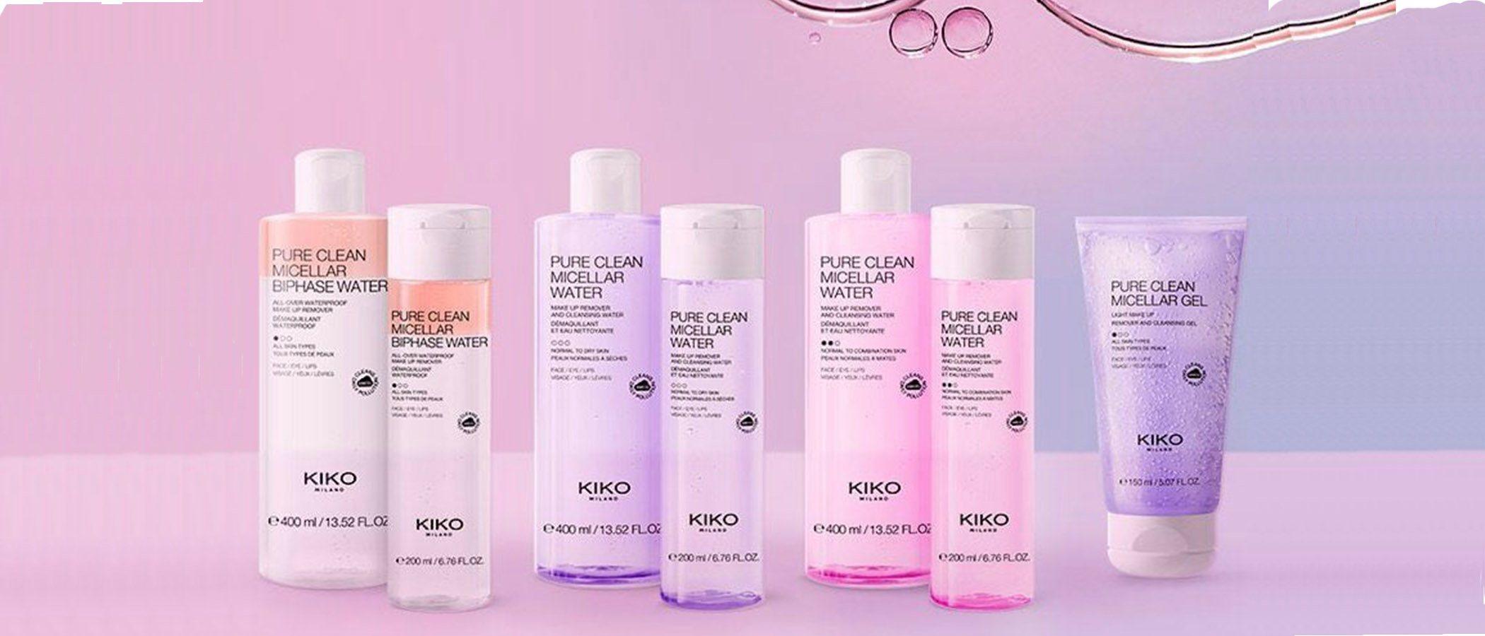 Imagen promocional de las novedades en cuidado facial de Kiko Milano