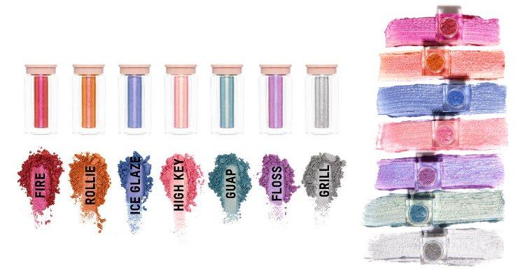 Los pigmentos en polvos sueltos de la colección 'Flashing Lights' de KKW Beauty