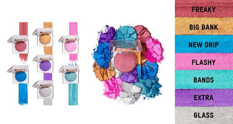 Los pigmentos en polvos prensados de la colección 'Flashing Lights' de KKW Beauty