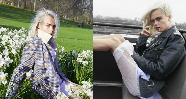 Cara Delevingne posa para Juergen Teller en la campaña de 'Her' de Burberry