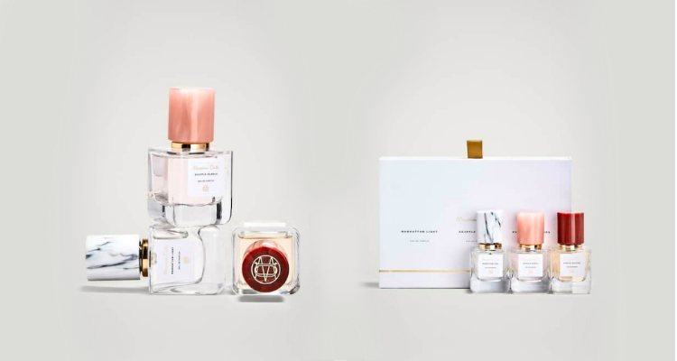 El pack con las tres fragancias se presenta en formato mini de 30 ml.