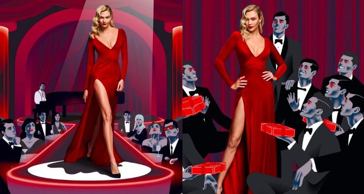 Karlie Kloss protagoniza la campaña del perfume 'Good Girl Velvet Fatale' de Carolina Herrera