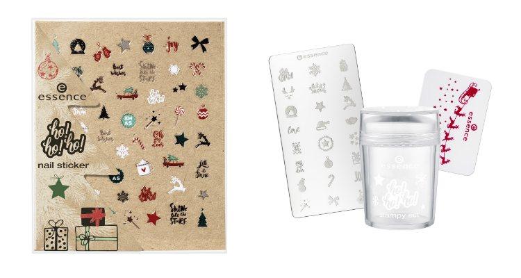 Las pegatinas nail-art y el kit de estampación de la colección de Essence para esta Navidad 2018