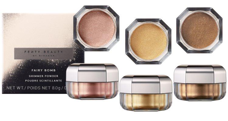 Los tres tonos del iluminador en polvo 'Fairy Bomb Shimmer Powder' de Fenty Beauty