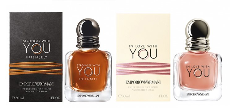 'In Love With You' y 'Stronger With You Intensely', de Giorgio Armani