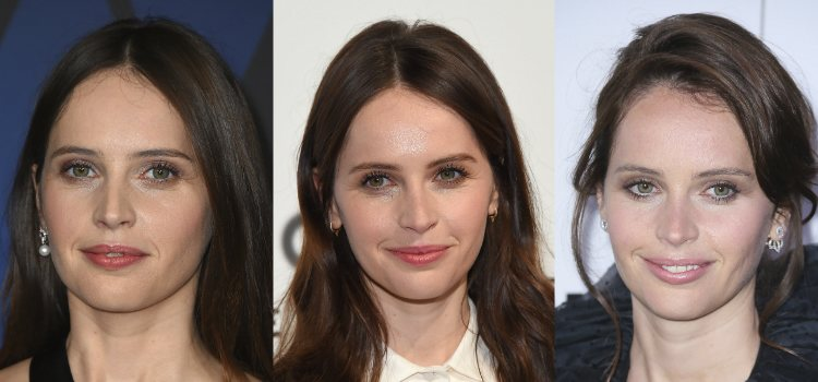 La actriz apuesta por la luminosidad también en el maquillaje del rostro
