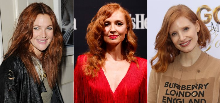 Drew Barrymore, Cristina Castaño y Jessica Chastain, con el pelo pelirrojo