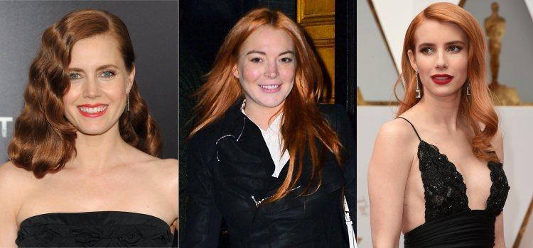 Las actrices Amy Adams, Lindsay Lohan y Emma Roberts lucen tonos pelirrojos