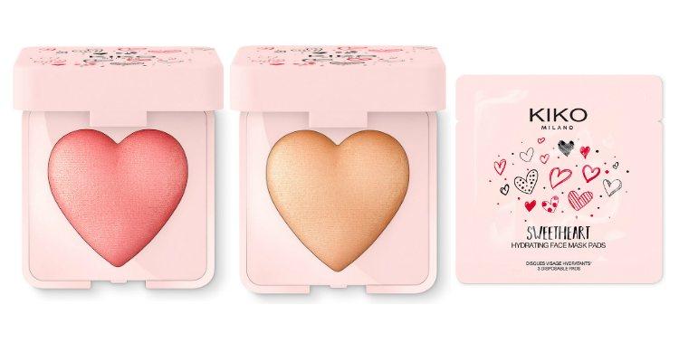 El colorete, el iluminador y los parches de la colección 'Sweetheart' de Kiko