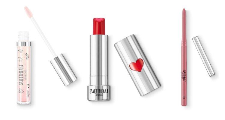 El brillo gloss, la barra de labios y el lápiz delineador de la 'Sweetheart' de Kiko