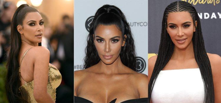 Los recogidos de la influencer Kim Kardashian