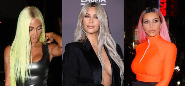 Kim Kardashian se atree con cualquier color para su melena