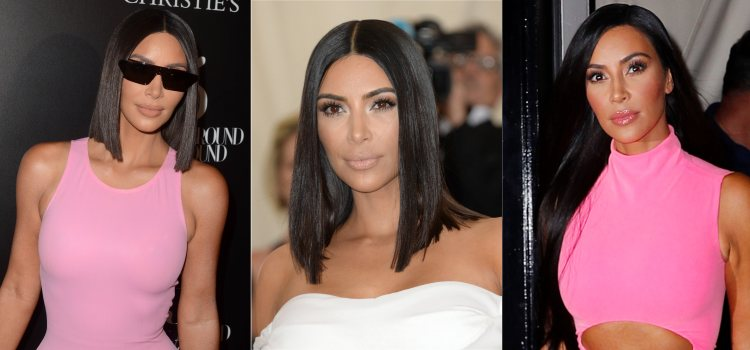 La influencer Kim Kardashian luce una melena glass hair