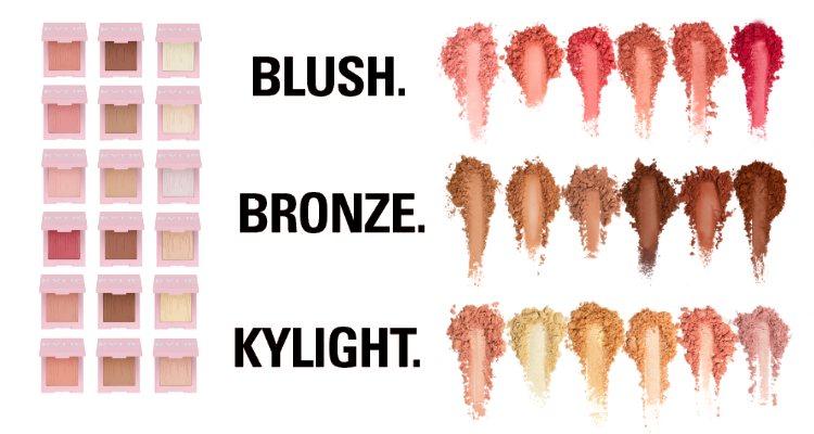 Kylie Cosmetics relanza sus coloretes, bronceadores e iluminadores con un nuevo packaging
