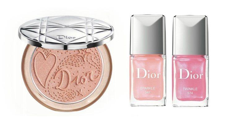 El iluminador y los esmaltes de la colección 'Rising Stars' de Dior