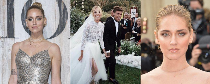 Varios looks de la influencer Chiara Ferragni con recogido
