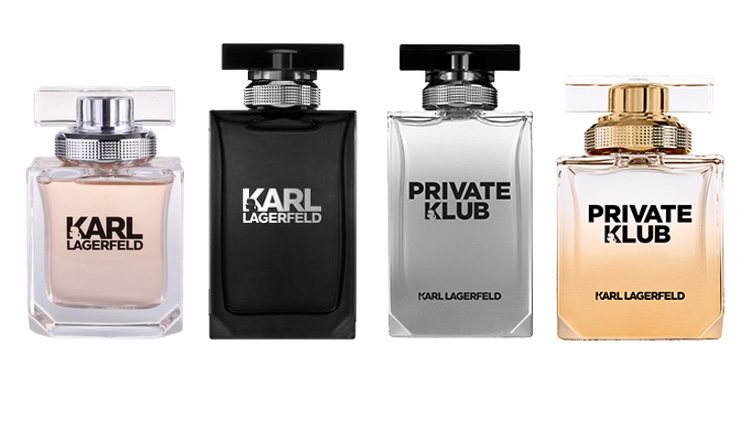Perfumes Karl Lagerfeld for Her, Karl Lagerfeld for Him, Private Klub for Men, Private Klub for Women de Karl Lagerfeld